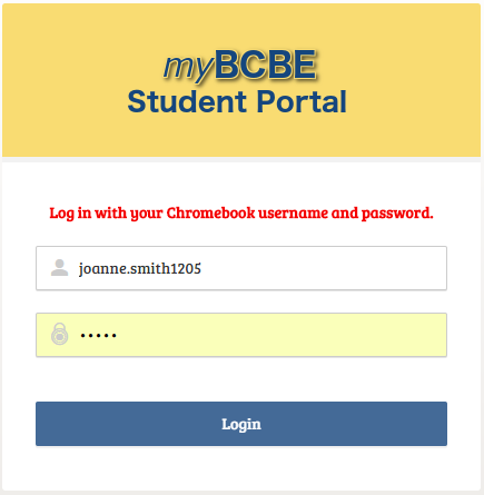 How do students access the BCBE Student Portal on their